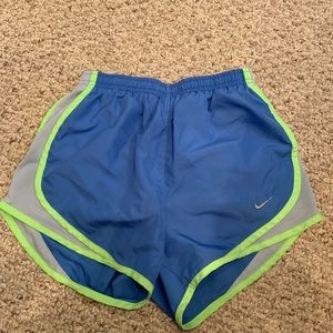 Blue and Green Nike Shorts